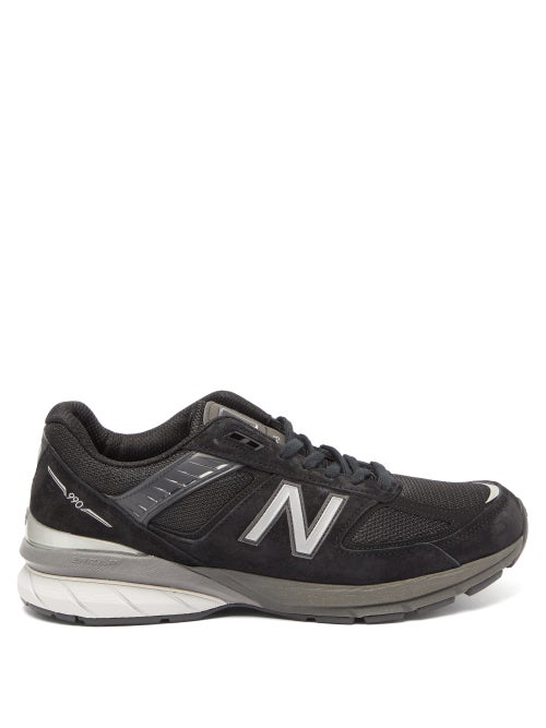 New Balance - 990v5 Suede And Mesh Trainers - Mens - Black