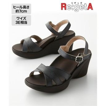 リゲッタ ハイウェッジストラップサンダル(R-1013) サンダル, Sandals