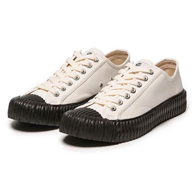 EXCELSIOR - M6017CV_WB  BOLT Low 餅乾鞋 / 帆布鞋 (白x黑底)