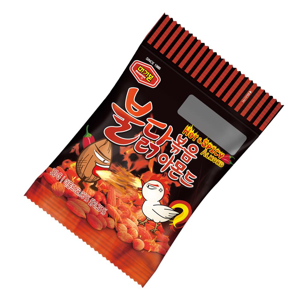 韓國正宗 Murgerbon 辣雞味炒杏仁果 (30g)X6