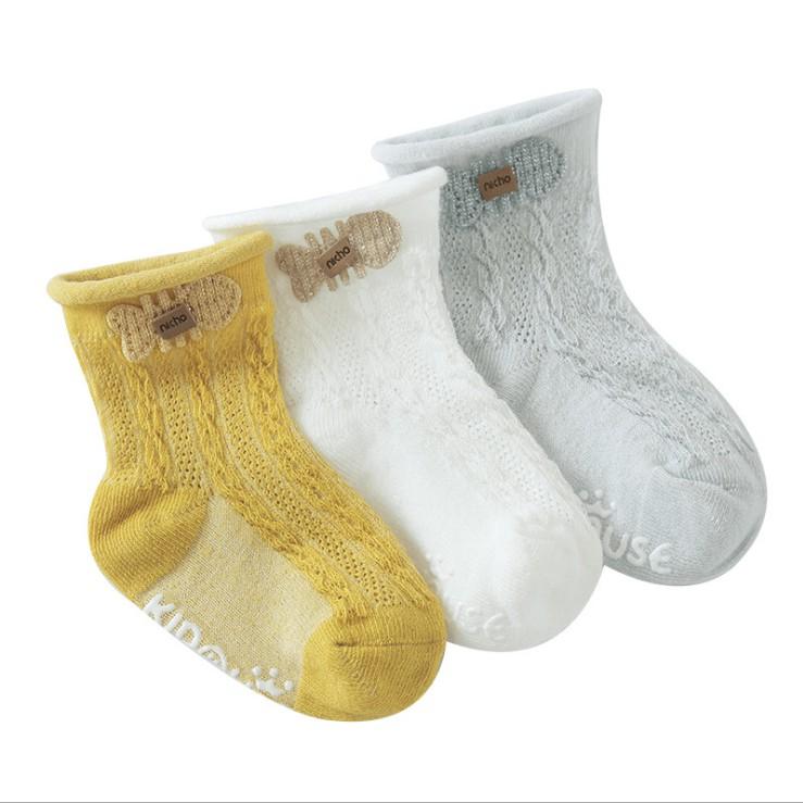 2020年新款夏夏季薄款寶寶襪子透氣網眼中筒嬰兒防滑地板襪卡通配飾公仔卡通襪