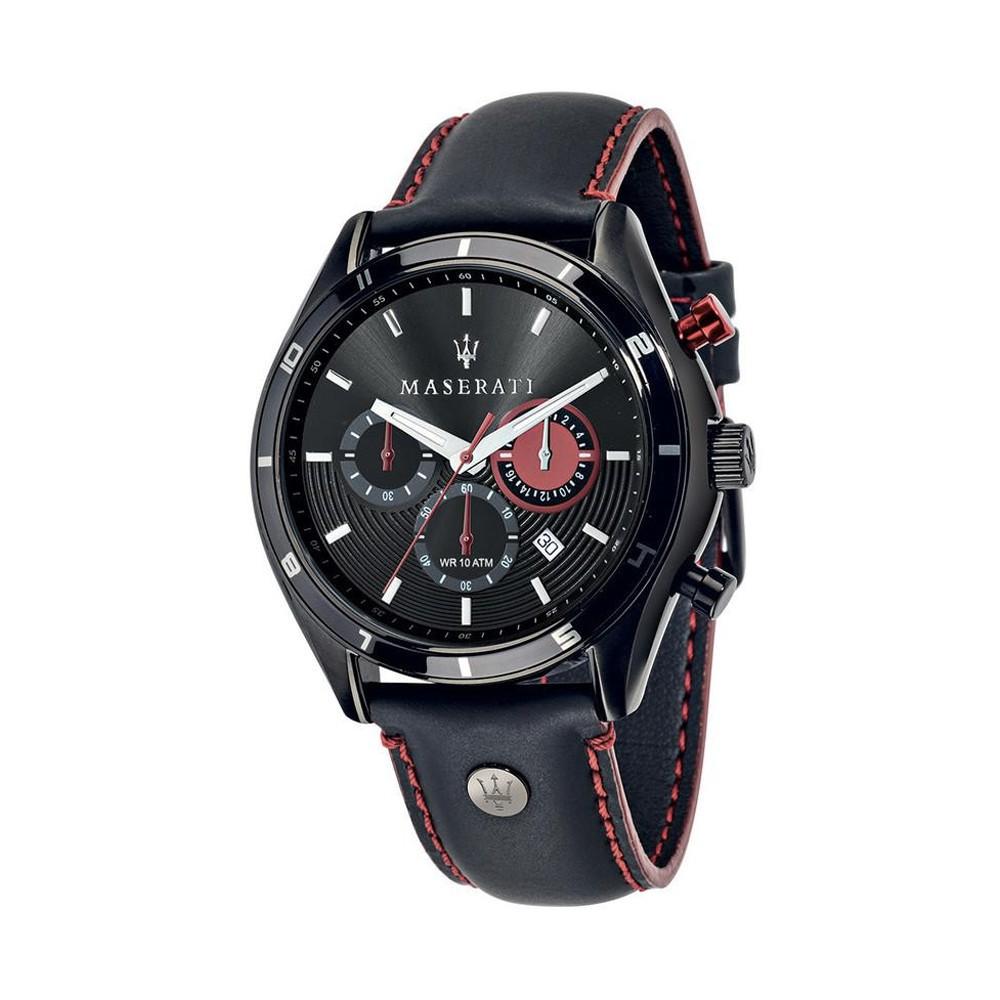 【Maserati 瑪莎拉蒂】時尚三眼皮帶腕錶(手錶 男錶)-R8871624002-台灣總代理公司貨-原廠保固兩年