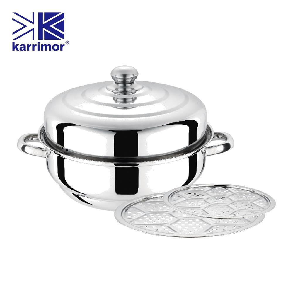 英國Karrimor 雙層蒸鮮32cm團圓鍋6L KA-W322B二入組
