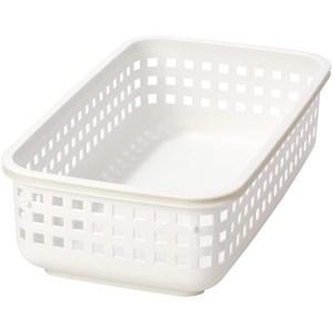 日本 Like-it [窄款]可堆疊收納籃 洗衣籃 S(單個)-白色
