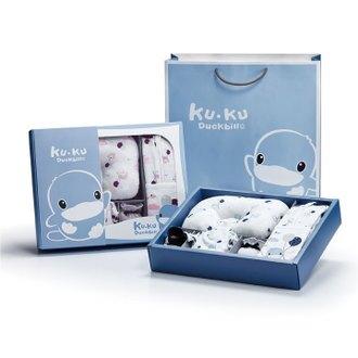 KUKU酷咕鴨夢想氣球包巾精緻禮盒-10件組(粉/藍)