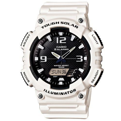 CASIO  G-SHOCK 太陽能運動亮眼橡膠錶 AQ-S810WC-7A