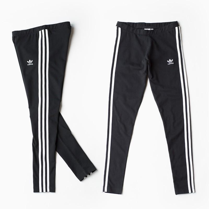 Adidas Leggings 3-Stripes 黑 三線 三葉草 長褲 緊身 內搭褲 CE2441 IMPACT