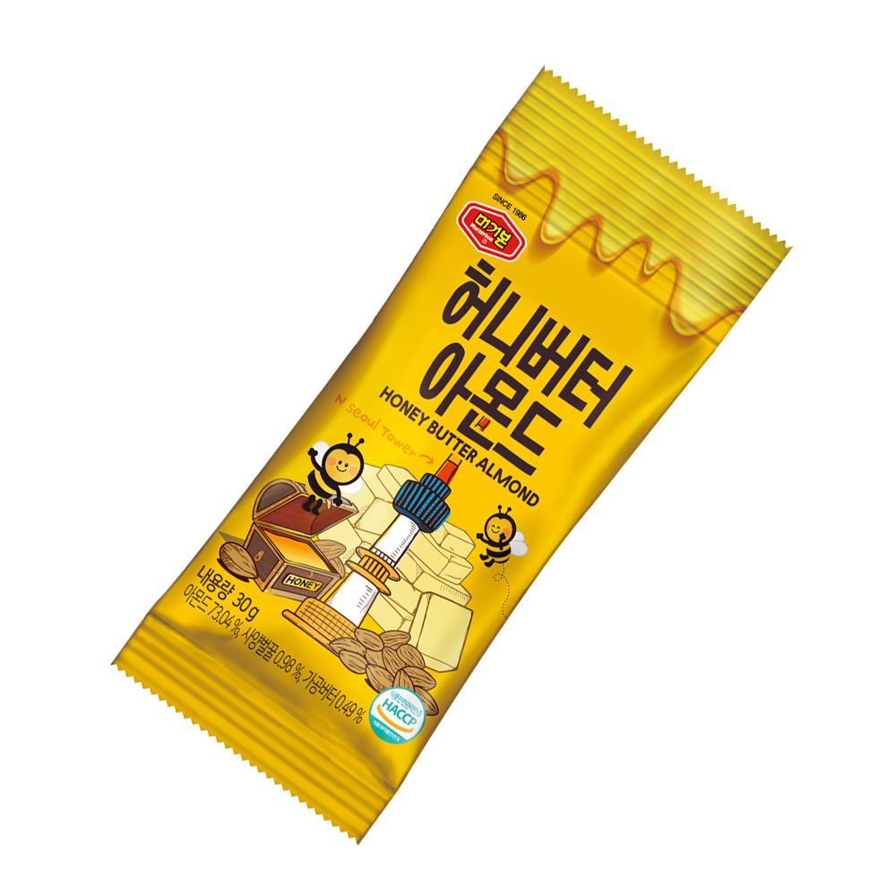 韓國正宗 Murgerbon 蜂蜜奶油味-杏仁果 (30g)X2