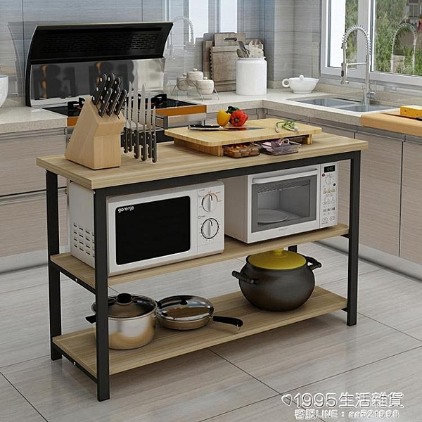 廚房桌切菜桌子操作台落地定做置物架簡易長桌多層桌子儲物桌特價 1995生活雜貨NMS