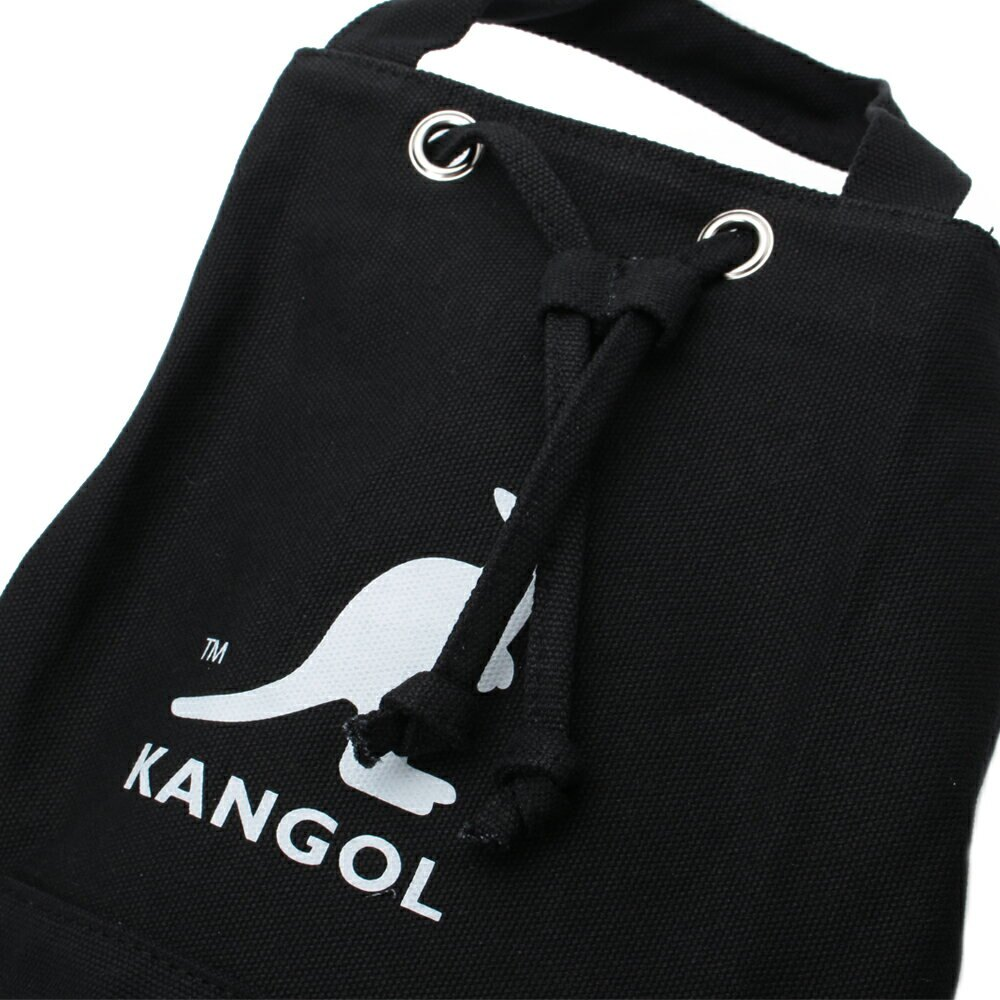 KANGOL ALICE CANVAS BUCKET BAG 帆布束口小側背包 白 6925300701
