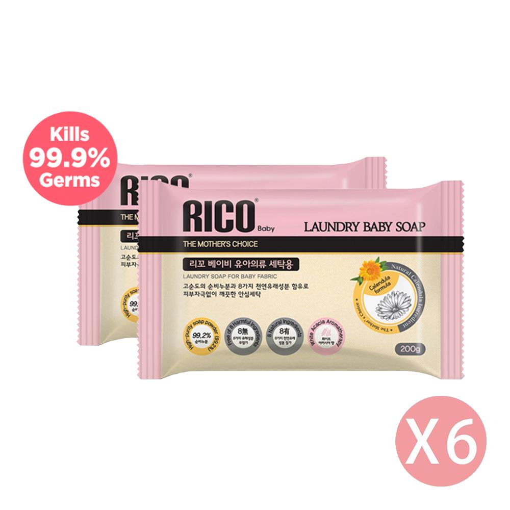韓國RICO baby - 白洋槐花有機天然抗菌洗衣皂-6個/箱