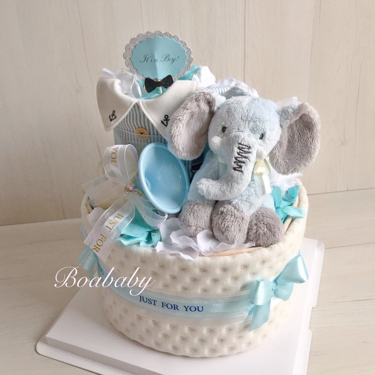 音樂小象超精緻尿布蛋糕最棒的彌月禮滿月禮❤️C25