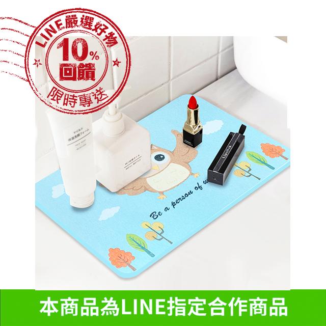 【防疫下殺 10%回饋】日本技術插畫動物硅藻土腳踏墊(兩種尺寸)