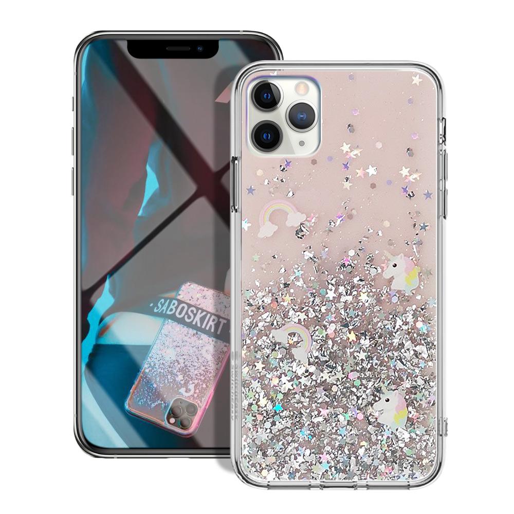 XLME for iPhone 11 Pro 5.8吋 經典獨角獸防摔軍規手機殼-粉糖甜星