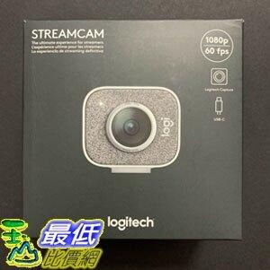 [9美國直購] 視訊攝影機 Logitech StreamCam Web Cam HD 1080P 60FPS - White-(BRAND NEW)