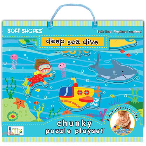 Soft Shapes Chunky Puzzle: Deep Sea Dive一起潛入深海吧 【三民網路書店】(盒裝)