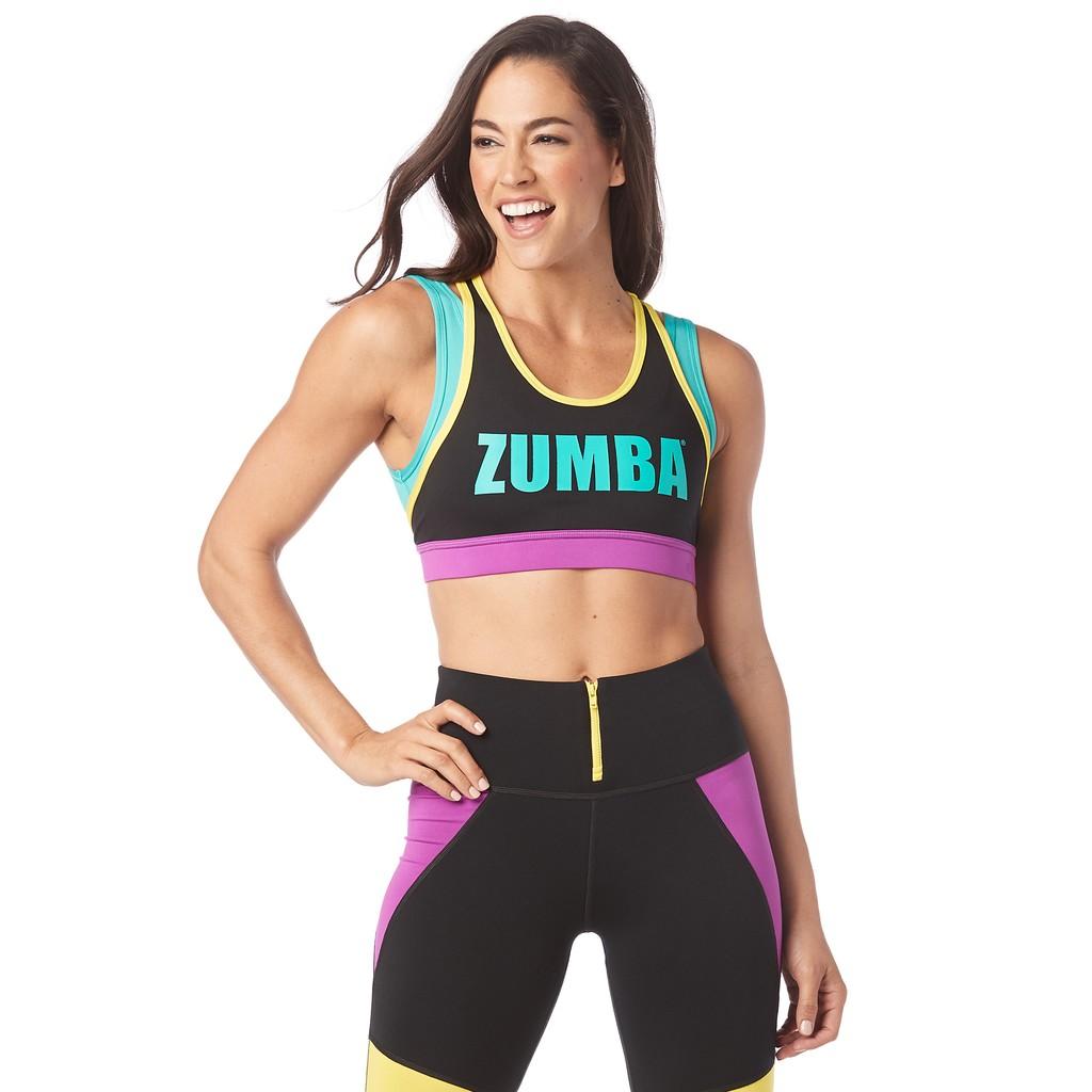 【ZUMBA】健身房瑜伽 飛輪有氧舞蹈 高包覆性 無鋼圈運動內衣 My Zumba Zip Up Bra