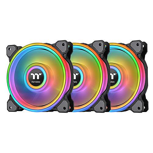 Thermaltake 曜越 Riing Quad 12 RGB 水冷排風扇 TT Premium 頂級版 (三顆風扇包裝) CL-F088-PL12SW-A