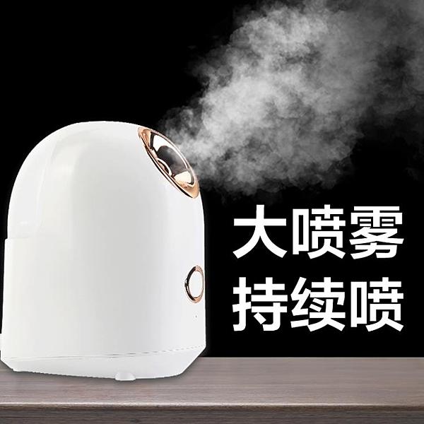 蒸臉器 熱噴家用蒸臉器面臉美容儀噴霧機加濕納米補水蒸臉儀打開毛孔 【全館免運】