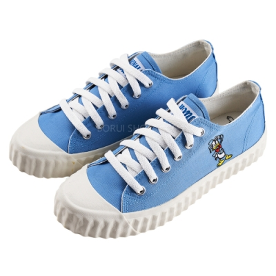 迪士尼親子鞋 唐老鴨 造型帆布休閒鞋-藍(柏睿鞋業)