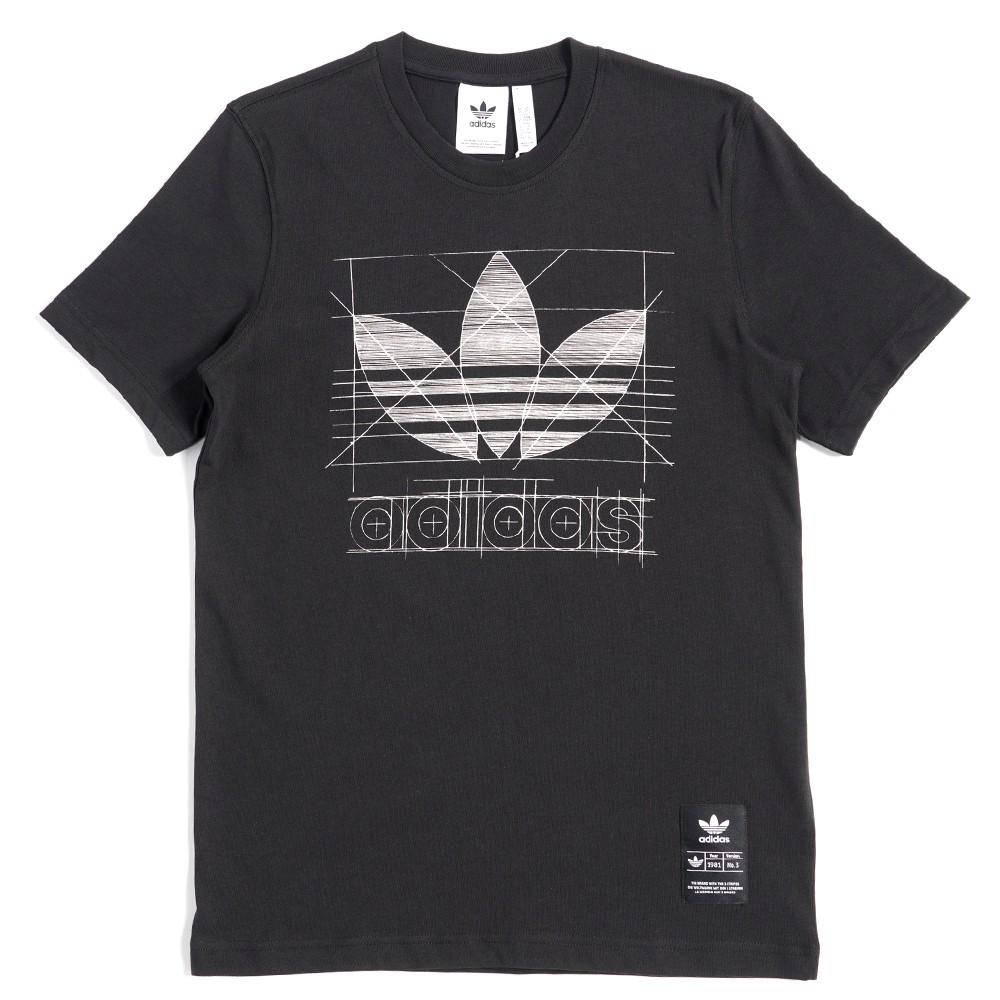 ADIDAS ORIGINALS TREFOIL DRAWING 男款 手稿 運動 休閒 短袖上衣 T恤 FM3376