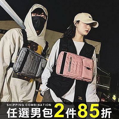 任選2件85折防水胸包潮流機能戰術包多功能嘻哈防水胸包【08B-T0133】