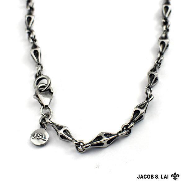 【期間特價】JSL 925純銀菱形項鍊 60cm 24吋 純銀項鍊 造型銀鍊 Silver J1-10-10
