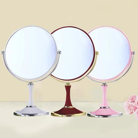 幸福揚邑 8吋超大歐式時尚梳妝美容化妝放大雙面桌鏡圓鏡 三色可選