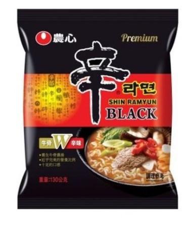 農心頂級 黑色辛拉麵 4包/袋 辛拉麵 黑色辛拉麵