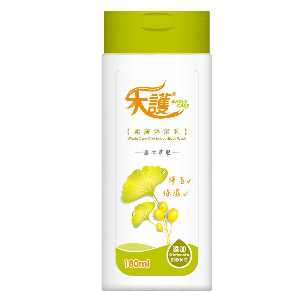 禾護 柔膚沐浴乳-銀杏萃取 (180ml/瓶)【杏一】