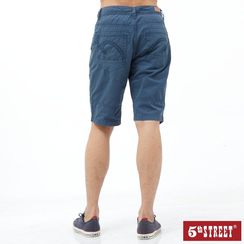 【5th STREET】男街霸休閒短褲-灰藍色