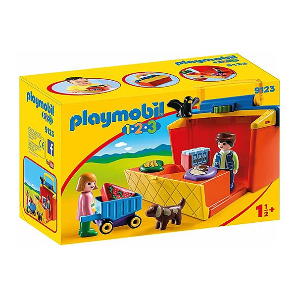Playmobil 摩比 123系列 9123 帶著走市集系列 【鯊玩具Toy Shark】
