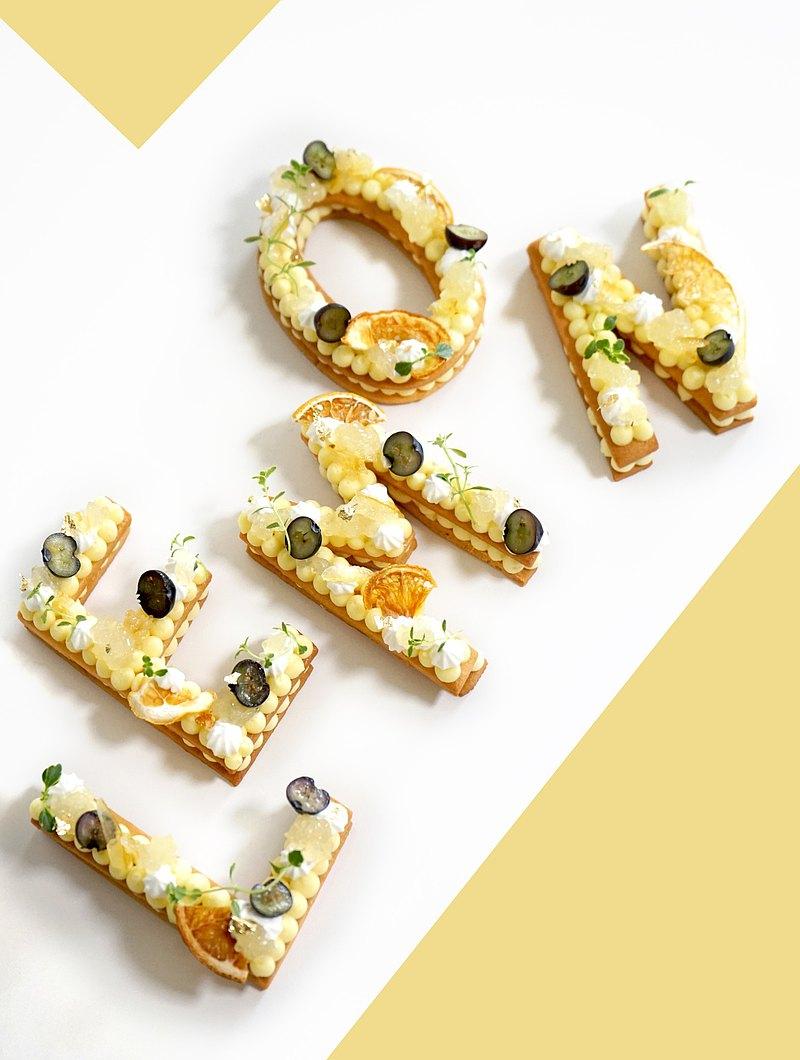 烘焙課程-青檸蘿勒檸檬字母塔