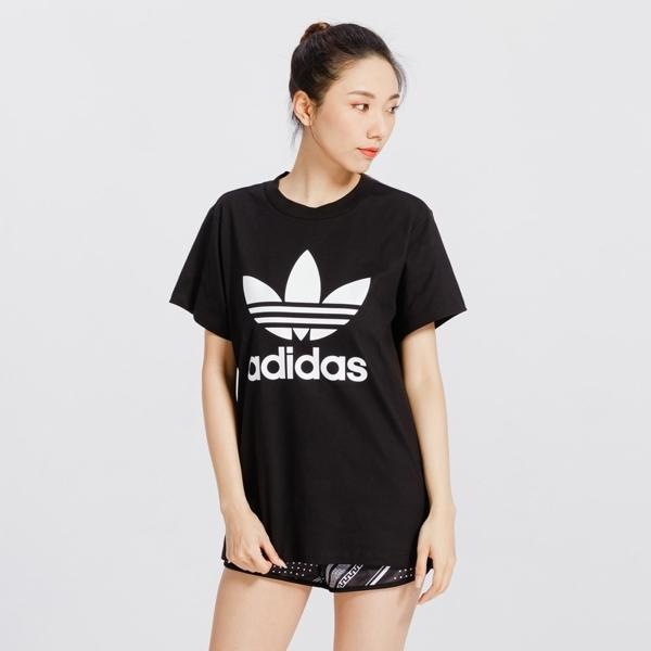 ADIDAS愛迪達 BOYFRIEND TREFOIL 短袖T恤 女款 DX2323