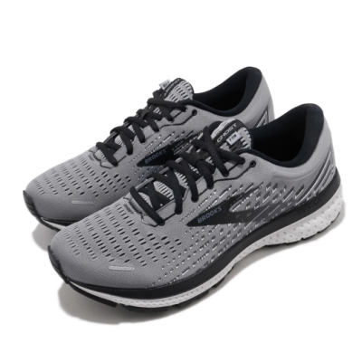 Brooks 慢跑鞋 Ghost 13 2E 寬楦 運動 男鞋 路跑 緩震 DNA科技 透氣 健身 灰 白 1103482E040