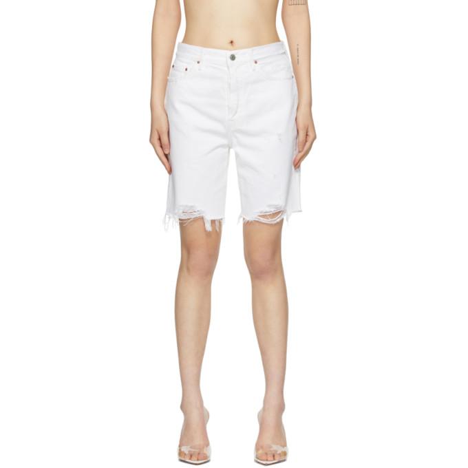 Grlfrnd 白色 Marjan 牛仔短裤