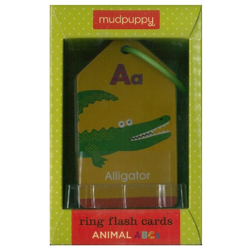 Ring Flash Cards: Animal ABCs 精美插圖英文字卡