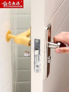加厚門把手保護套臥室防磕碰衛生間防靜電硅膠防撞墊吸盤式保護套