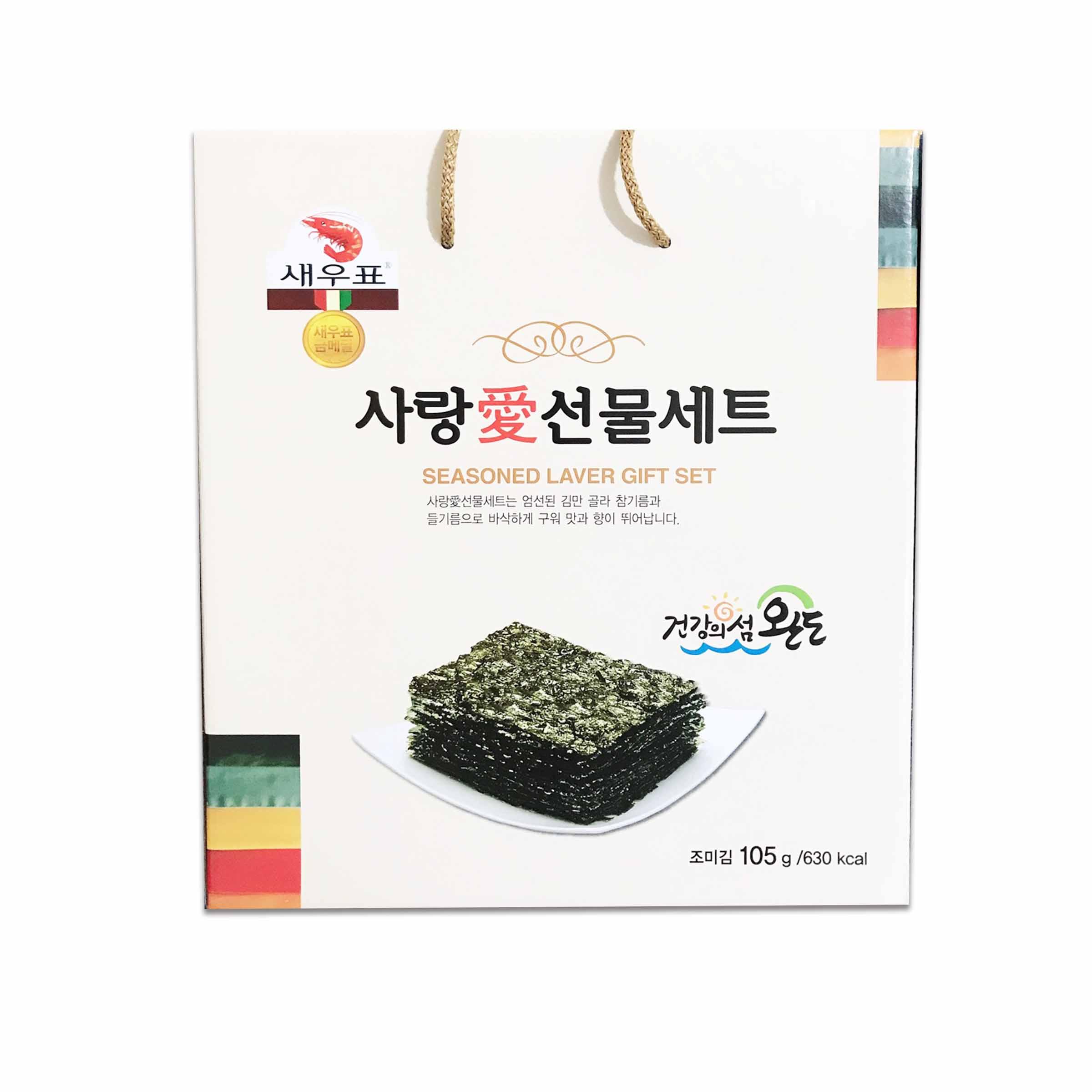 韓國 莞島 海苔禮盒105G