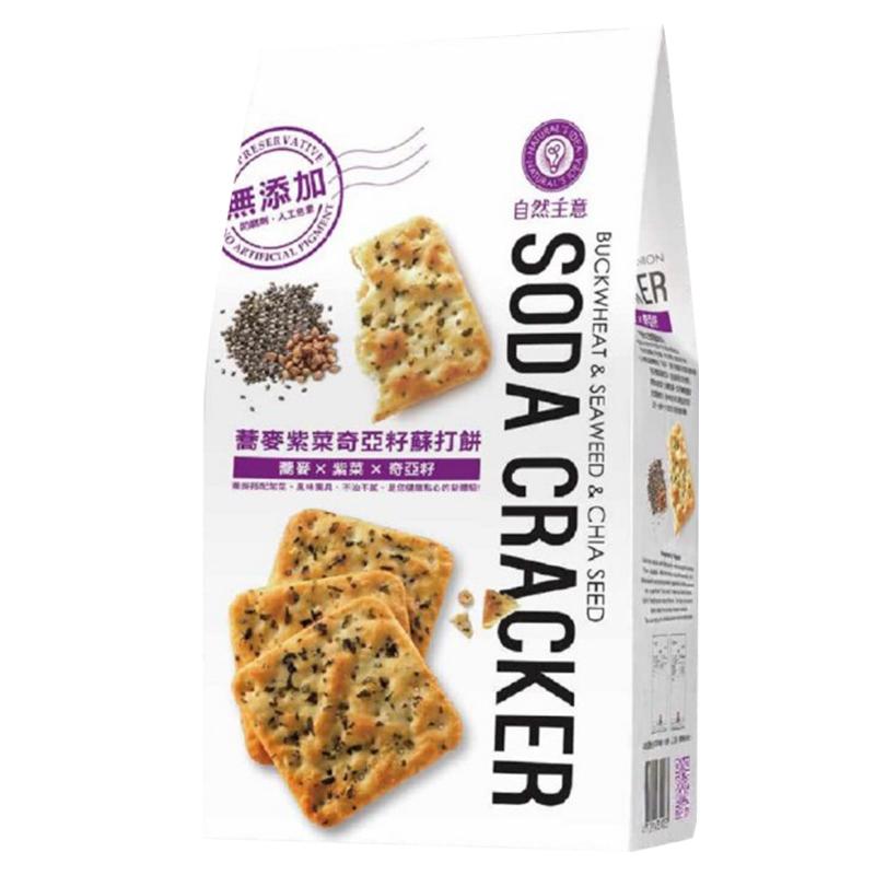 自然主意蕎麥紫菜奇亞籽蘇打餅-180g