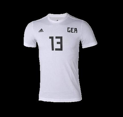 【毒】零碼六折 Adidas 世界盃 德國上衣 棉T 三線 #13 MULLER CW2149