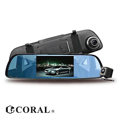CORAL T6 固定測速 星光夜視 觸控後視鏡雙鏡頭行車紀錄器