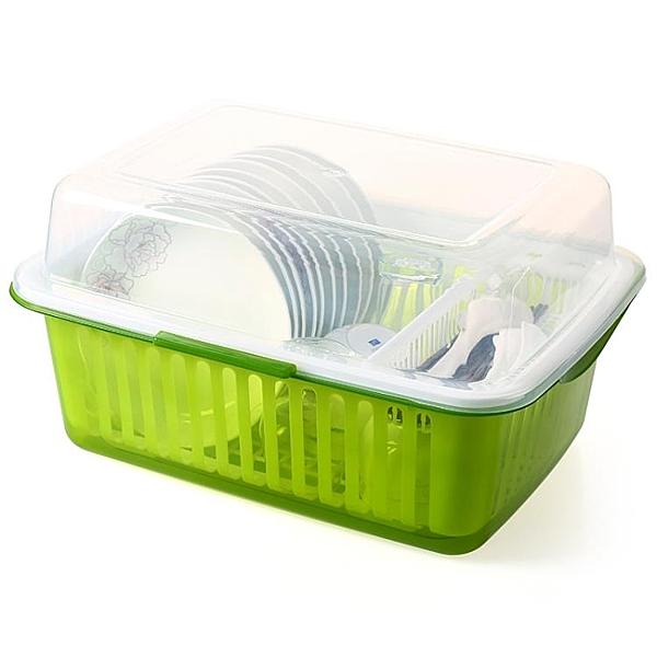 碗櫃 廚房收納架置物架家用碗架裝碗筷收納箱抖音神器瀝水架特大號碗櫃 宜品