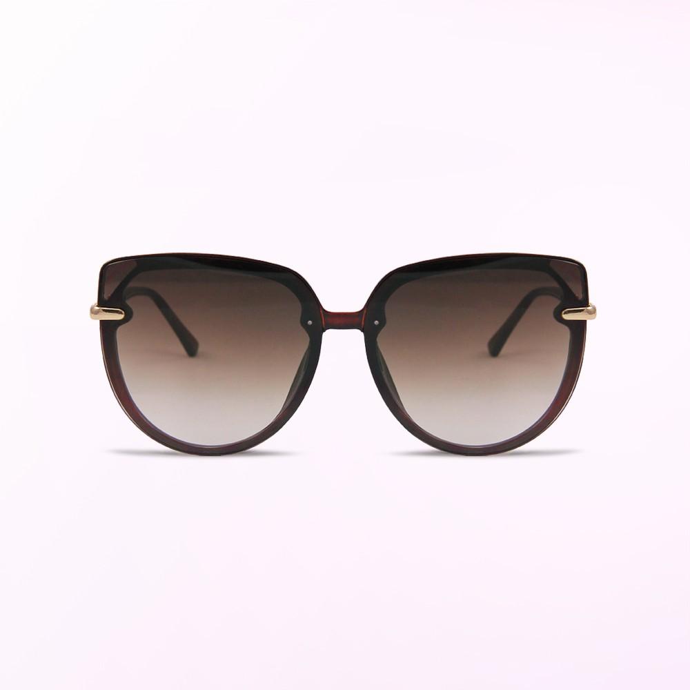 歐美名媛時尚簡約深焙棕漸層墨鏡│UV400太陽眼鏡│拂曉的微光奇想│ALEGANT