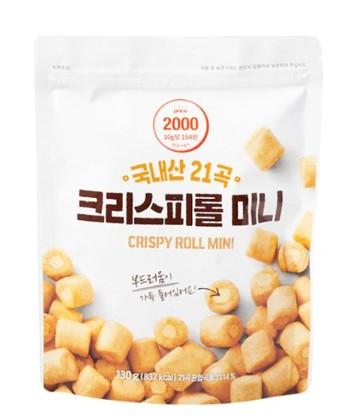 韓國 21種穀物餅乾 脆皮捲 迷你捲 原味 130g 2020.10.09
