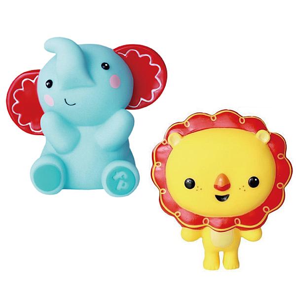 費雪 小獅子/ 小象軟膠玩具