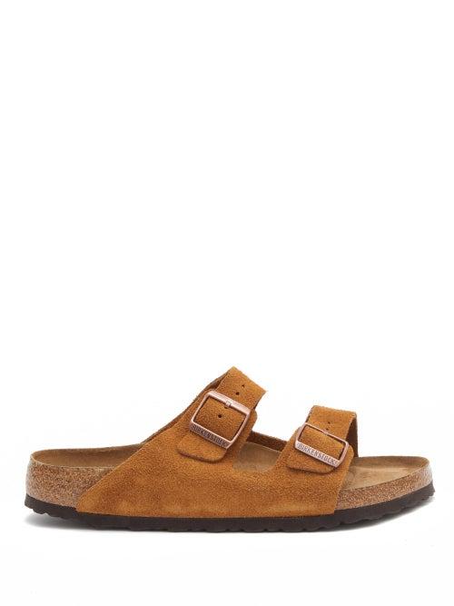 Birkenstock - Arizona Two-strap Suede Slides - Mens - Tan