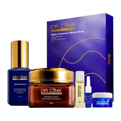 DR.CINK達特聖克 黃金經典精華組 全效保濕霜/黃金花蜜霜+精華液