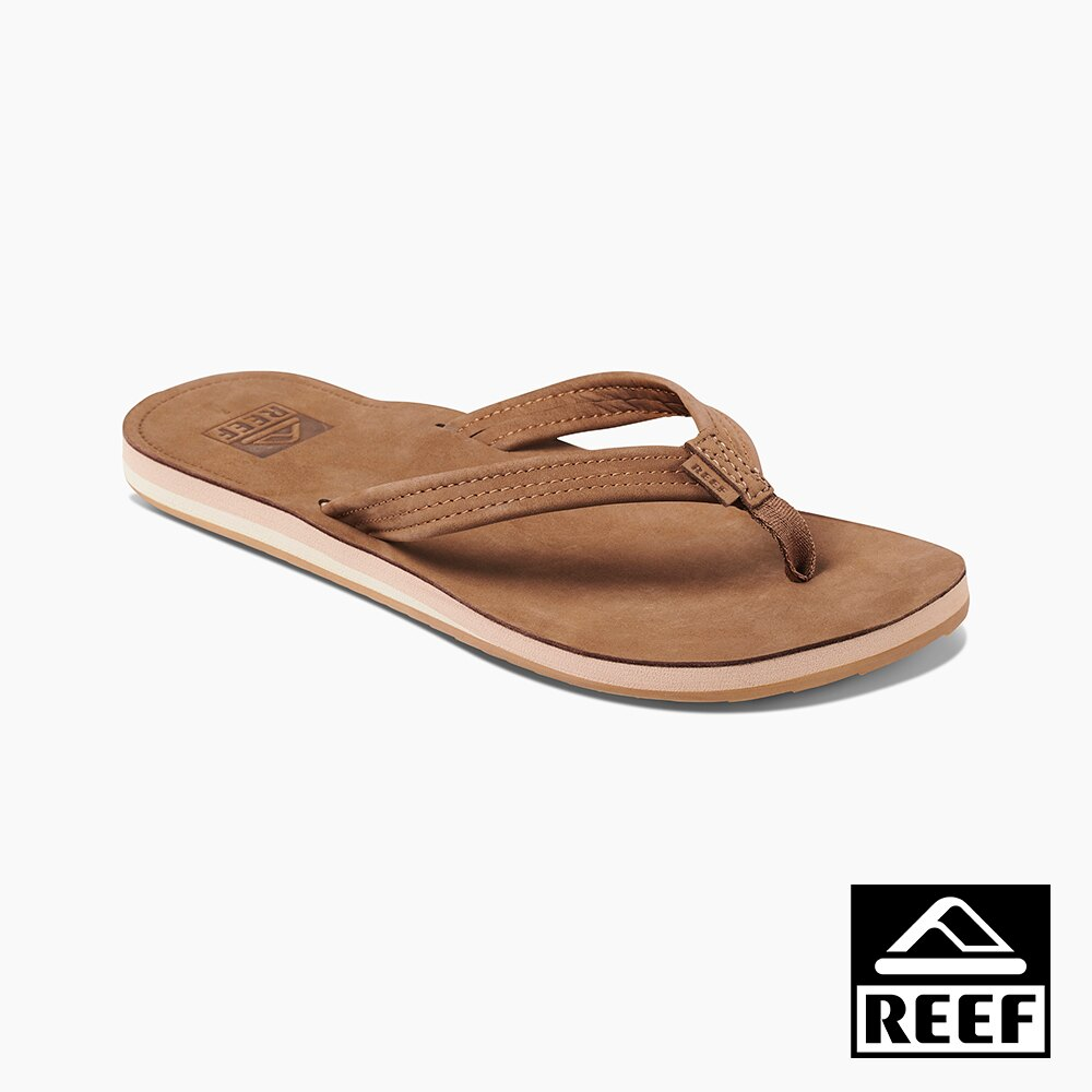 REEF 真皮防水系列 人體工學設計 女款夾腳人字拖鞋 - 巧克力 S20 RF0A3YKYCHO