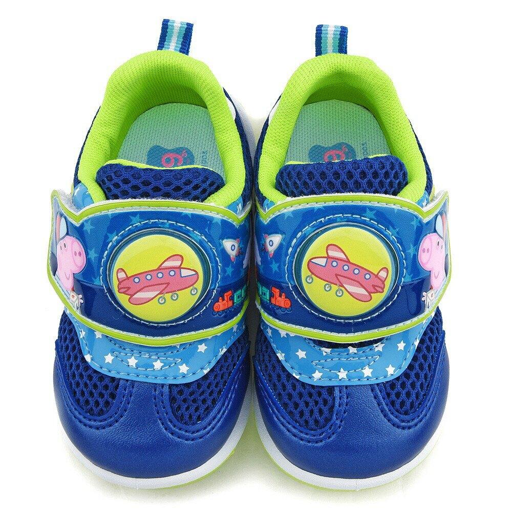 粉紅豬小妹 佩佩 喬治 造型電燈運動鞋 中童 PG6421藍/粉(共二色)【童鞋城堡旗艦店】